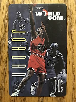 10 M Michael Jordan Basketball: Triple Images LDDS Worldcom Phone Card.