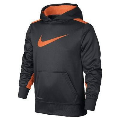 Nike 716859-061 Knockout Hoodie 3.0-Boys-Antracite/Orange - Small