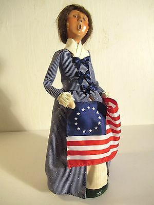 "Byer's Choice Betsy Ross 13"" Doll Pristine"