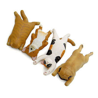 Sleepy Dog/Cat PVC Figures Animal Cartoon Toy Home Collectables Decor Kids Gift