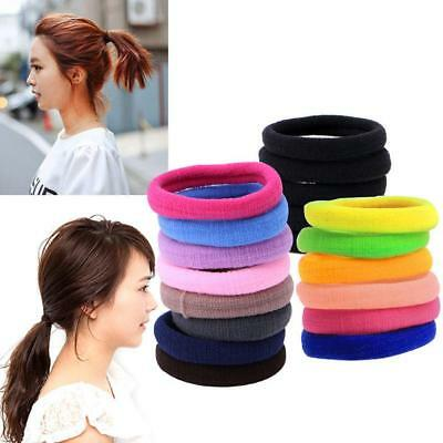 100Pcs Kids Girl Lady Elastic Rubber Hair Bands Ponytail Holder Head Rope Ties H
