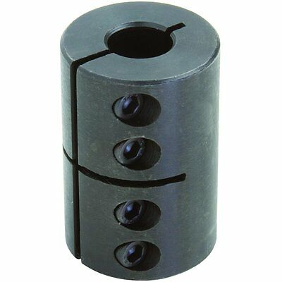 Climax Part CC-050-037 Mild Steel, Black Oxide Plating Clamping Coupling, 1/2 X