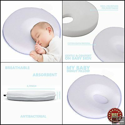 Baby Donut Pillow Prevent Flat Head & Plagiocephaly Babies 0-6 Months Premium