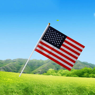 """Memorable Small Handheld American Flags 9*12""""/20*30cm USA Ground Flags July 4th"""