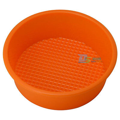 "5"" Round Non Stick Silicone Cake Pan Muffin Cupcake Pizza Baking Tray Mold DIY"