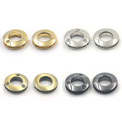 14mm Alloy Grommet Eyelets for  Canvas Leather Self Backing Screw Purse Buckles