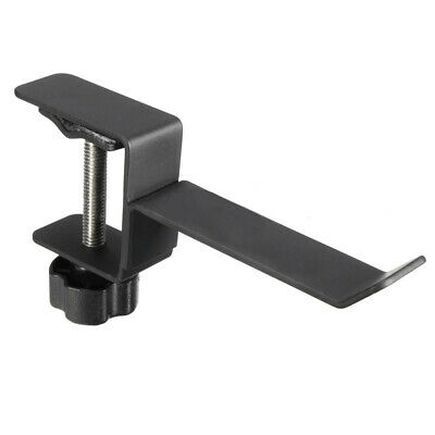 Steel Headphone Earphone Holder Hanger Stand Bracket Table Clamp Clip with Screw