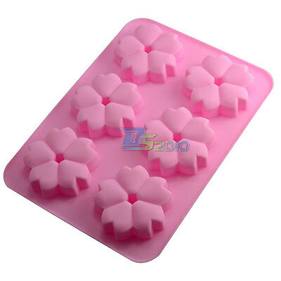 Cherry Blossom Fondant Pastry Cake Decor Silicone Mold Soap Candle DIY Maker Pan