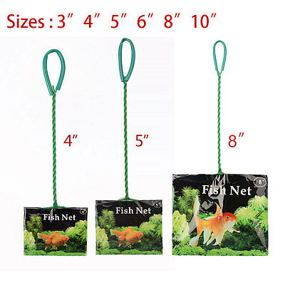 "For Aquarium Fish Tank Tropical Cold Water 3"" 4"" 5"" 6"" 8"" 10"" Green Fish Net Hot"