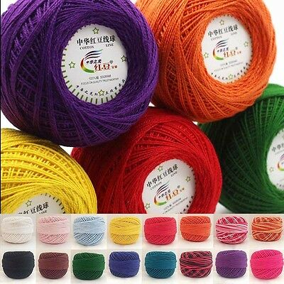 1 Ball 50g Soft Crochet  Cotton Cord Thread Yarn for Embroidery Crochet Knitting