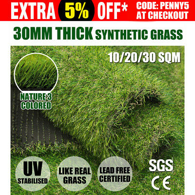 10-30SQM Synthetic Turf Artificial Grass Plastic Plant Fake Lawn Flooring 30mm