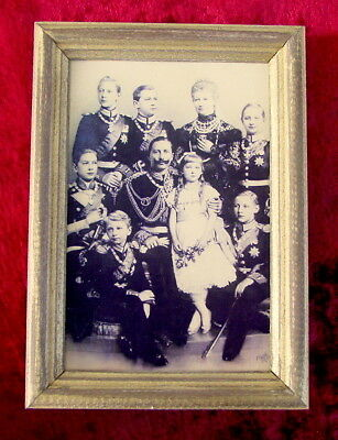 Emperor Kaiser Wilhelm II Antique Portrait German and His Family, Germany, Rare