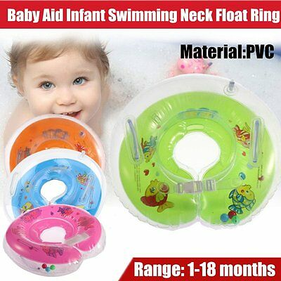 Inflatable PVC Material Baby Infant Swimming Neck Float Tube Ring Safety Neck ok