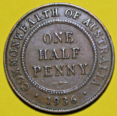 1936 KGV HALF PENNY - RARE and Circulated Coin,  Great Investment