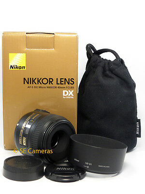 Nikon Af-S Micro Nikkor 40Mm F2.8 G Macro Lens *excellent Condition*