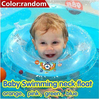 PVC Baby Kids Infant Swimming Neck Float Inflatable Tube Ring Safety Neck OK