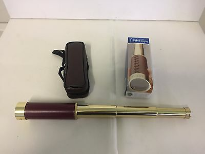 Pocket Telescope, National Geographic, brass fittings.