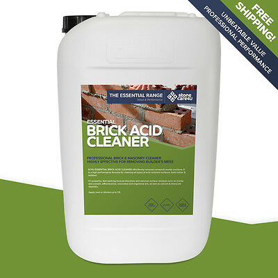 Stonecare4u Essential Brick Acid Cleaner 25L Trade Size - Power cleaning formula
