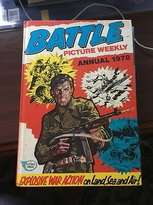 Battle Picture Weekly Annual 1978 Vintage Action/Adventure - clipped