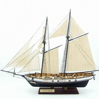 Ship Assembly Model DIY Kits Classical Wooden Sailing Boat Scale Decoration Wood