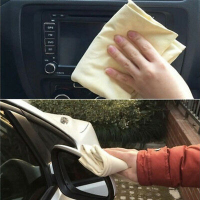Natural Chamois Leather Car Cleaning Cloths Washing Suede Absorbent Towel DSUK