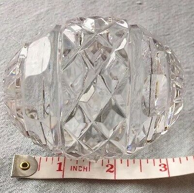 Beautiful Tyrone Crystal Rugby Ball Shaped Paper Weight