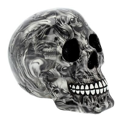 Soul Small Skull Head Grey Black Gothic Figure Ornament Art Figurine Decor Gifts
