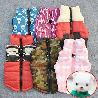US Pet Dog Winter Warm Vest Clothes Puppy Coat Jacket Apparel Clothing Costume