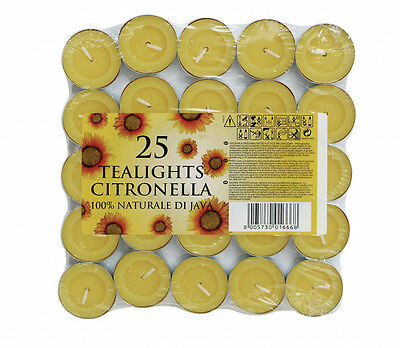 Prices Candles Tealights Citronella Fragranced Garden Pack of 25