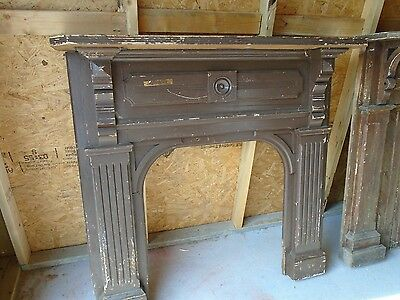 """ANTIQUE FIREPLACE MANTLE SURROUND 49 3/4""""H by 47"""" W, 29 3/4"""" H by 28"""" W"""