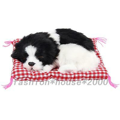 Realistic Sleeping Dog Puppy Simulation Animal Kids Stuffed Sound Toy Plush Cute