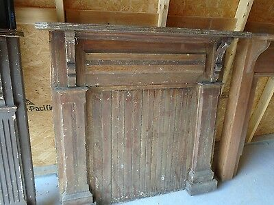 "ANTIQUE FIREPLACE MANTLE SURROUND, 50""W by 48 5/8""H, 31 1/2"" W by 33 1/2"" H"