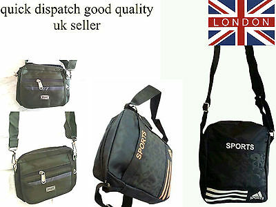 Unisex Cross Body Over Shoulder Large Holliday Adjustable Travel Side Bag UK