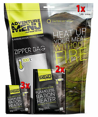 Adventure Menu Flameless-heater ALLinONE (3pcs 20g + 2pcs 50g + zipper bag)