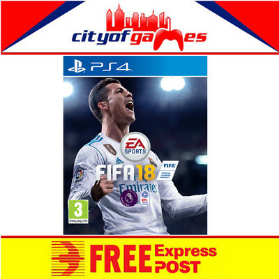 Fifa 18 PS4 Game New & Sealed Includes Bonus DLC Free Express Post In Stock Now