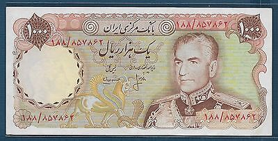 Middle East 1000 Rials, 1974 - 1979, P 105b / Sign 16, XF-