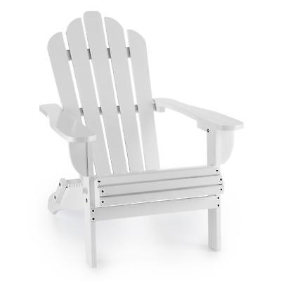 New Airondack Chair Home Furniture Wooden Living Room Outdoor Waterproof White