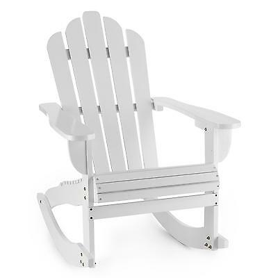 New Airondack Chair Home Furniture Wooden Living Patio Outdoor Waterproof White