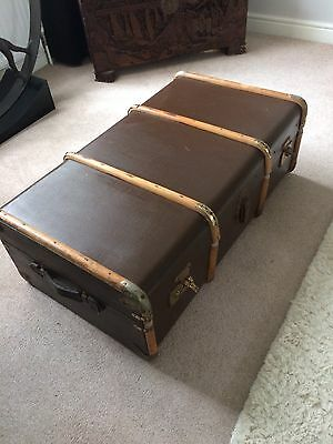 Antique Chest/trunk Used As Coffee Table