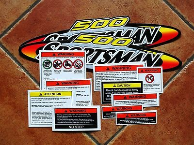 Quad ATV Polaris Sportsman 500 set of 12 stickers / decals