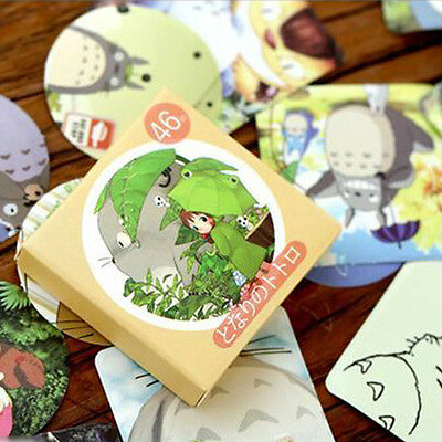46pc Paper Masking Sticker chinchil  Totoro  Craft Gift Lable Scrapbook Seal Tag