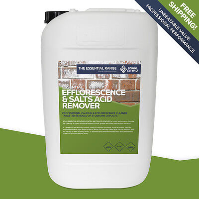 Stonecare4u Essential Efflorescence & Salts Acid Remover 25L - Power cleaner