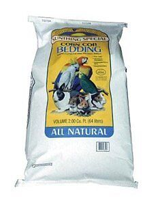 Sun Seed Company SSS18350 50lb 40Pack Corn Cob Small Animal Bedding 2 Cubic Feet