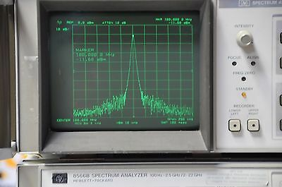 Agilent Keysight HP 8566B Spectrum Analyzer 100Hz-22GHz test with cables