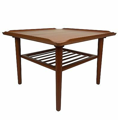 SALE! Mid Century Modern Teak Coffee End Side Table by Georg Jensen 1960s