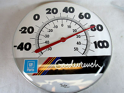 "General Motors GM Parts dealer Mr. Goodwrench large 18"" thermometer by Taylor"
