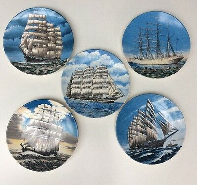Poole Pottery Transfer Plates - Ships Collection