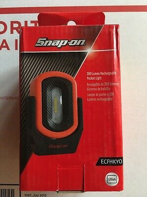 New Snap On Orange 350 Lumen Rechargeable Mini Shop Light