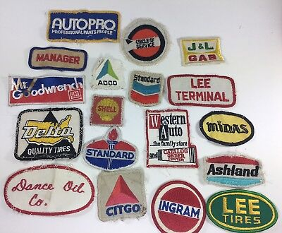 Vintage Gas Station Patches Service Station Gas And Oil