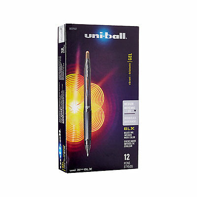 12 Pk Uniball Signo 207 Retractable Gel Pens 0.7mm Medium Point, Black Brown Ink